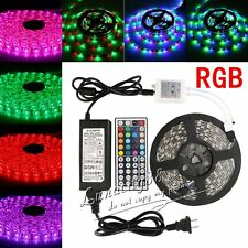 3528 5050 SMD RGB Leds LED Strip Light Flexible DC 12V + IR Controller + Power