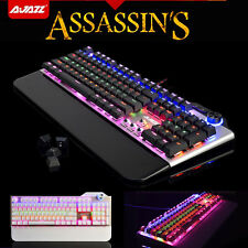 Ajazz Assassin's AK35 Black Blue Switch 107 Keys Mechanical Pro Gaming Keyboard