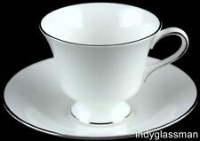 """Wedgwood Bone China SILVER ERMINE 3"""" Cup & Saucer Set (6 left)"""