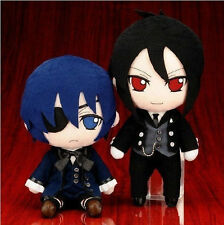 Anime Cosplay Black Butler Kuroshitsuji Ciel Sebastian Michaelis Plush Toy Doll