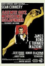 James Bond * Goldfinger * Sean Connery Italian Poster 1964 Large Format 24x36