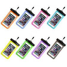 NEW Clear Colorful Universal Phone Case Underwater Waterproof Case Bag Dry Pouch