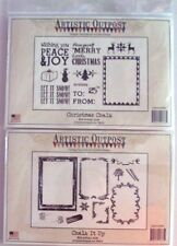 Artistic Outpost Vintage Inspired Art Rubber Stamps Chalk It Up, Christmas Chalk