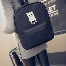 Women Cat Canvas Backpack Bag Girls Bookbags Casual Travel Shoulder Bags New Fad