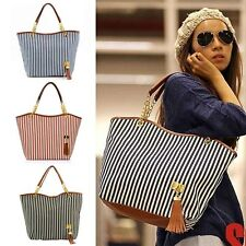 Beach Canvas plaid Handbags Girl Satchel Shop Shoulder Bag Ladies Outdoor Cute
