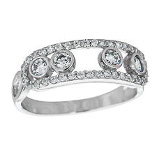 Decadence Sterling Silver Micropave Fancy Round Cut Ring with Cubic Zirconia