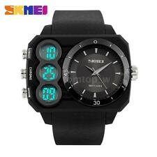 Luxury Mens Quartz Sport Military Analog Digital Wrist Watch Date Stopwatch Q8O3