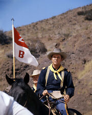 Audie Murphy Apache Rifles Portrait on Horse by Flag Poster or Photo