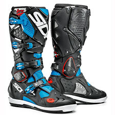 NEW SIDI CROSSFIRE 2 SRS MX DIRTBIKE OFFROAD BOOTS LIGHT BLUE/BLACK ALL SIZES