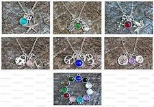 Charm Necklace ~ Reclaimed Vintage Glass ~ 6 Themes ~ 11 Colors