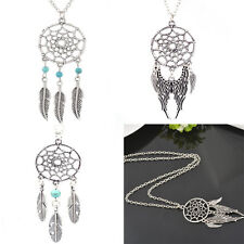 1Pcs New Fashion Retro Alloy Jewelry Feather Pendant Chain Necklace Gift