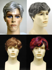 MENS MALE STRAIGHT WAVY SHORT HAIR WIG FRANK HIGH QUALITY COSTUME FULL WIG