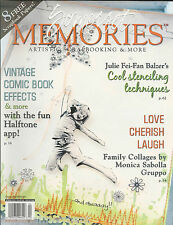 Somerset Memories magazine Stenciling Vintage comic book effects Family collage