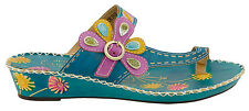 SPRING STEP L'ARTISTE LADIES SHOES SANTORINI TURQUOISE LEATHER SANDALS NEW BOX