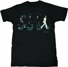 Adult Black The Beatles Lennon McCartney Harrison Starr Abbey Stride T-Shirt