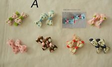 8 pairs lovely cute baby toddle infant girl hair bow hairpin Alligator clips