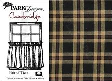 Black, Red and Tan Plaid Cambridge Tiers by Park Designs, Choice of 24 or 36 In.