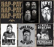 CHOOSE Reality TV Show Duck Dynasty Duck Call Commander Hunters T-Shirt Tees