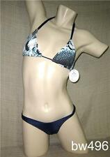 NEW! Sexy NAVY BLUE STAMPED Brazilian THONG Bikini Swimsuit-Made in BRAZIL-XS, S