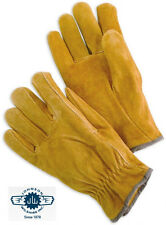 Unlined Split Leather Grain Cowhide Work Gloves #5018 Sold by the Pair