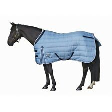 """Weatherbeeta Channel Quilt Stable Winter Turnout Blanket 420D Blue 60"""" Foal Pony"""