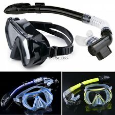 SCUBA Gear Set Diving Snorkeling Mask Snorkel Freedive Swimming Equipment N4U8