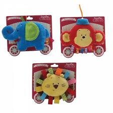 Baby GUND Colour Fun Circus Crinkles Soft Toy Elephant / Monkey / LION