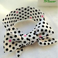 Baby Girls Fashion Polka Dot Hairband Fabric Knoted Bowknot Headband Accessories