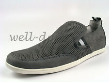 new Marc Ecko Imperial Moc grey white moccasins mens shoes casual slip ons NIB