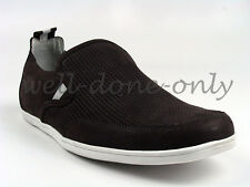 new Marc Ecko Imperial Moc brown white moccasins mens shoes casual slip ons NIB