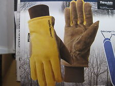 New (1) ONE Wells Lamont  COLD WEATHER WORK GLOVES 1PAIR SUEDE COWHIDE LEATHER
