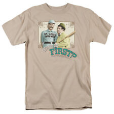 Abbott And Costello Comedy Duo Who's On First TV Movie Adult T-Shirt Tee