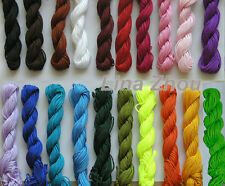 20 Bundles 1.5MM Chinese Knot Macrame /Rattail Braided Nylon Bead Cord Thread