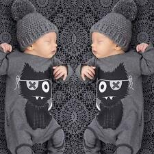 Kids Baby Boys Girls Warm Infant Romper Jumpsuit Bodysuit Cotton Clothes Outfit