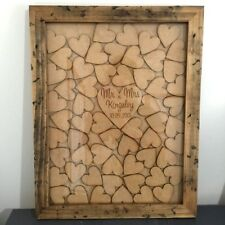 NEW Handmade Signing Heart Wedding Drop Box Guest Book Timber Frame Personalised