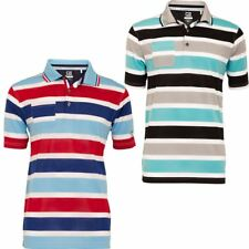Cutter & Buck DryTech Pacific Stripe Pocket Mens Golf Polo Shirt