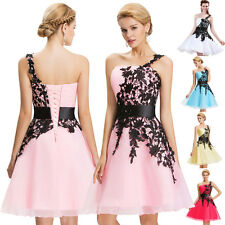 APPLIQUE~HOMECOMING Short Bridesmaid Ball Cocktail Evening Prom Party Dress 6-20