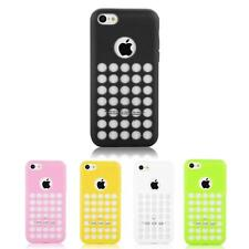 Silicone Holes Matte Dot Soft Back Protective Case Cover Skin - iPhone 5c *SALE*
