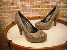 Andiamo Glam Taupe Studded Hidden Platform Pumps NEW