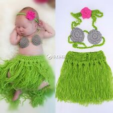 HOT 3pc Newborn Boy Girl Baby Crochet Knit Costume Photography Photo Prop Outfit