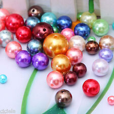 Wholesale Mixed Czech Glass Pearl Spacer Round Loose Beads DIY New 4/6/8/10/12mm