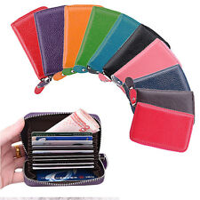 Fashion Mini Genuine Real Leather Credit ID Business Card Holder Pocket Wallet B