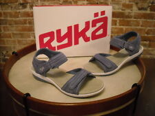 Ryka Periwinkle Suede Ankle Strap Comfort Sandal NEW
