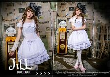 lolita GOTH fairy kei princess maker off shoulder dolly tiered dress HA140 W