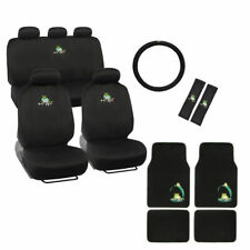 New Green Frog Auto Interior Set Seat Covers Floor Mats Steering Wheel Covers