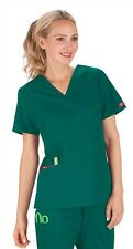 Dickies Medical EDS Signature Scrubs Hunter Green Mock Wrap Top Size XS-XXL NWT