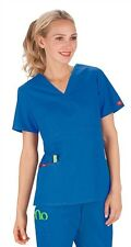 Dickies Medical EDS Signature Scrubs Royal Blue Mock Wrap Top Size XS-XXL NWT