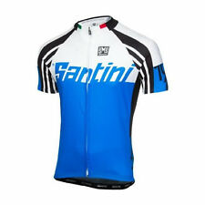 Zest Short Sleeve Cycling Jersey - in Blue - Made in Italy by Santini