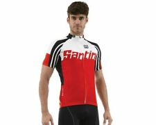 Zest Short Sleeve Cycling Jersey - in Red - Made in Italy by Santini