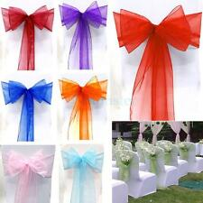 Organza Chair Cover Sash Bow Wedding Party Reception Banquet Decor